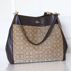 Coach F27579 - Lexy Shoulder Bag- Khaki/Brown